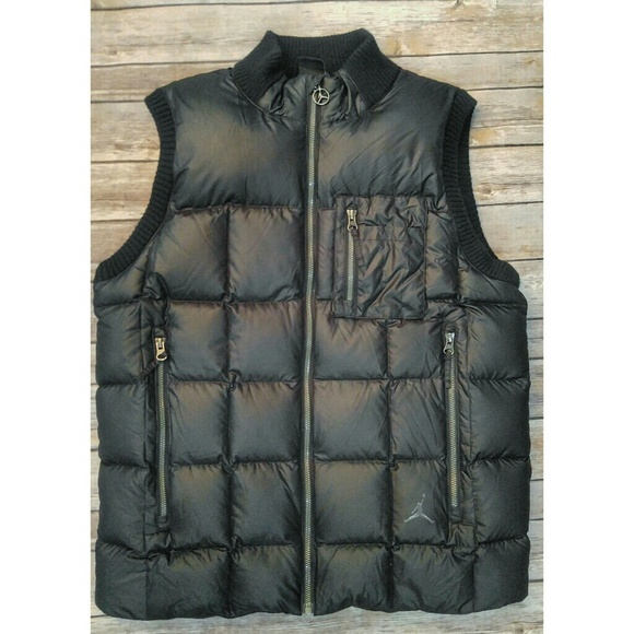 17b51d43763f Jordan Other - Air Jordan Mens Med Puffer Blk VEST Grey duck down